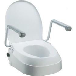 Toalettförhöjar med armstött, justerbar höjd