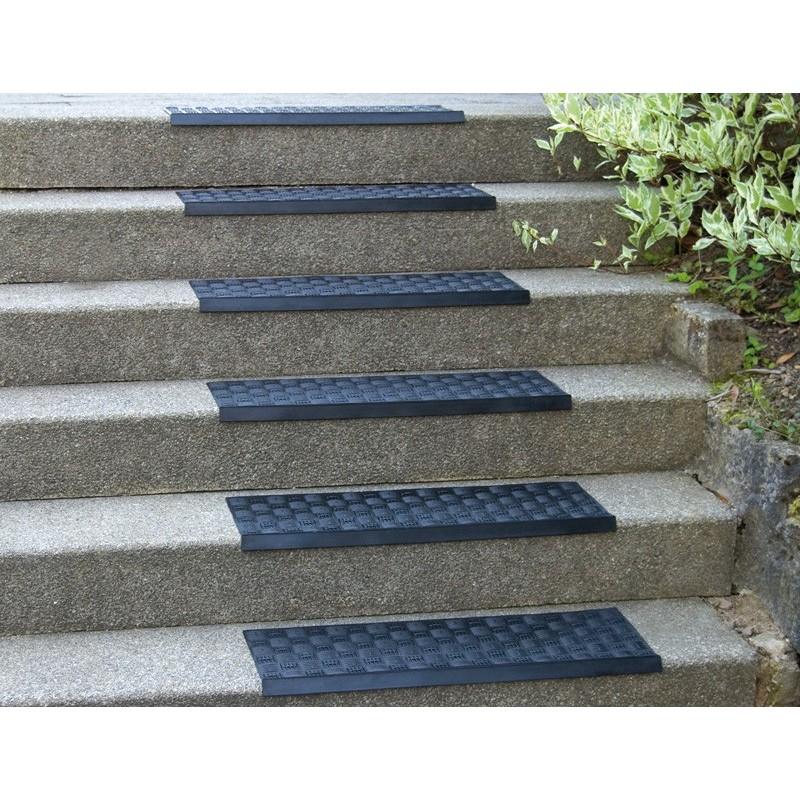 Gummimatta til trappsteg, grå