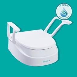 Toalettförhöjare med armstöd, justerbar höjd